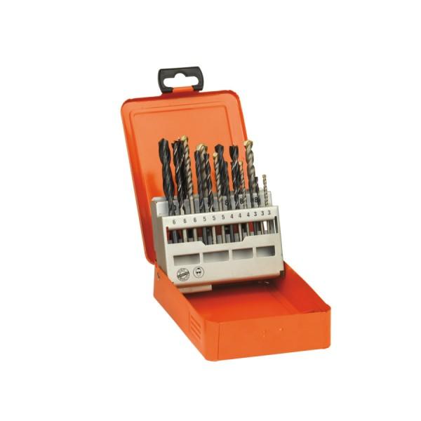 Set 18 burghie mixte AEG, Ø 3,0-10,0mm, pentru metal, lemn, zidarie si piatra