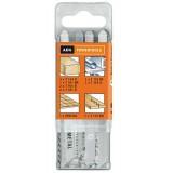 Set 12 panze AEG pentru fierastrau pendular, pentru aplicatii multiple, adecvate pentru aplicatii in lemn, taiere blaturi, pardoseli stratificate si metale