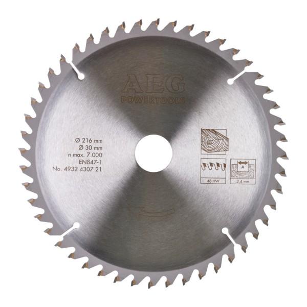 Panza AEG pentru fierastrau circular taieri inclinate, dimensiuni 254x30xz80, grosime 3,2mm, pentru materiale neferoase