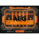Set 10 biti de impact AEG lungi, model AAKSD10, pentru surubelnita