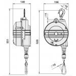 Echilibror de greutate, model 9354, 4.0-7.0kg, 2000mm