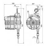 Echilibror de greutate, model 9422, 100-120kg, 2500mm