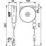 Echilibror de greutate, model 9300NY, 0.2-0.5kg, 1600mm