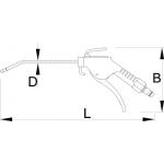 Pistol pneumatic de curatire Unior, art. 1508A