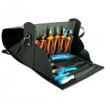 Trusa profesionala de scule Unior pentru electricieni, art. 1000 ak5, in geanta