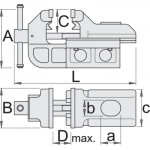Menghina de banc tip IRONGATOR, Unior, art.721Q/6, cu sistem mobil rapid, 150mm