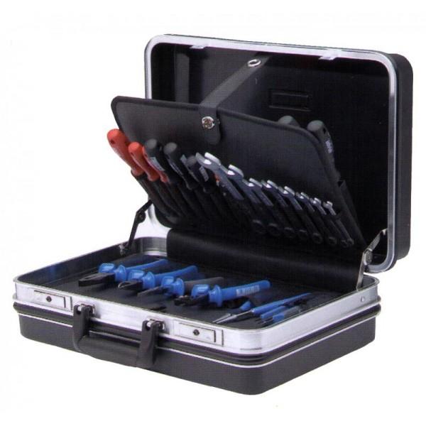 Trusa profesionala de scule Unior pentru electricieni, art. TSE3, in cutie ABS